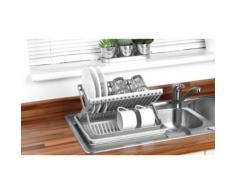 Égouttoir à vaisselle pliable avec plateau, Beldray : Gris