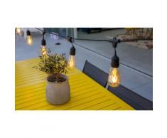 1 Guirlande lumineuse E27 secteur : Avec ampoules LED