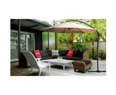 Parasol : Fixe inclinable / Noir / 270 cm