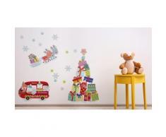WS4301 - Stickers sapin de Noël rennes