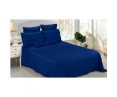 Couvre lit matelassé : 4 pièces / bleu marine