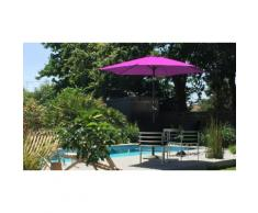 Parasol : Fixe inclinable 270 cm / Prune