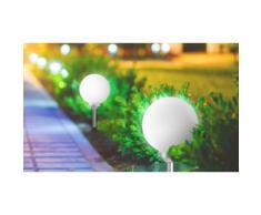 4x Boule lumineuse Moony : 20 cm