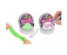 Pâte à modeler magique extensible et phosphorescente avec lampe UV - coloris assortis : 2