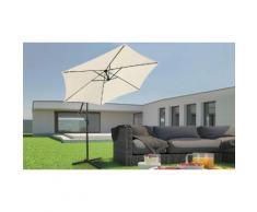 Parasol de jardin Miadomodo : Beige
