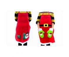 Tablier de cuisine thème Noël : 2 / Père Noël et Bonhomme de neige