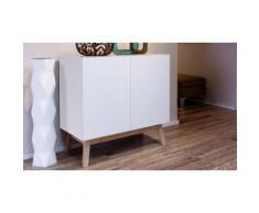 Collection scandinave Home : Bahut 2 portes / blanc