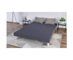 Sommier tapissier en kit gris : 90x200 / Sommier seul