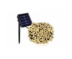 Guirlande LED solaire Yogy blanc chaud 100 Leds / 4