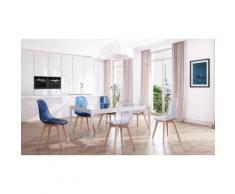 lot de chaises avec assise en polycarbonate transparente de la marque La Redoute : 4