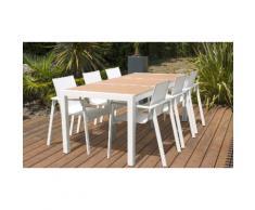 Ensemble de jardin table céramique Oslo et 6 fauteuils