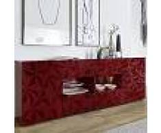Kasalinea Enfilade design rouge laqué 2 portes 4 tiroirs nino 3