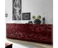 Kasalinea Enfilade 4 portes design rouge laqué nino 3