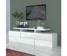 Kasalinea Meuble tv blanc laqué design olympe