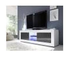 Kasalinea Meuble tv blanc et gris laqué design ariel 3