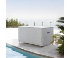 Coffre de rangement Bayana Noisette Jardin 166 x 76 x 79 cm - Acier traité époxy, Texaline