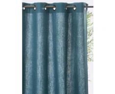 Rideau lin à oeillets Bleu Cyrillus
