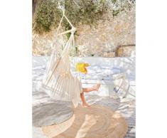 Chaise hamac en bois et coton Blanc Cyrillus
