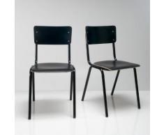 Chaise d'écolier (lot de 2), HIBA . Noir La Redoute Interieurs
