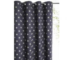 Rideau imprimé en coton avec oeillets Bleu Cyrillus