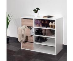 Meuble à chaussures Reynal, 4 tiroirs 3 étagères . Beige La Redoute Interieurs