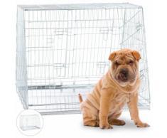 Cage de Transport pour Chien, Box Pliant pour Chiots, Double, Cloison, 3 Portes, Voiture, XL,