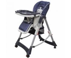 Chaise haute réhausseur bébé Bleu Maja+ MJ10063