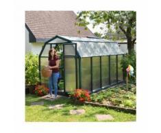 Serre de jardin en polycarbonate Rion Eco Grow 6,65 m², Ancrage au sol Oui - longueur : 3m26