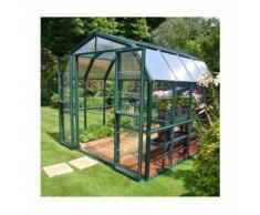Serre de jardin en polycarbonate Rion Grand Gardener 7,04 m², Ancrage au sol Non - longueur : 2m64