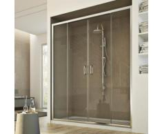 Porte Douche 130 cm 185 transparent modèle Replay 2 Portillons