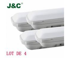 Reglette tube LED 120cm 36W IP65 étanche Blanc Neutre 4000K 3000 lumens - Lot de 2