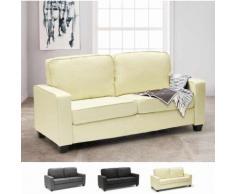 Canapé 2 places en tissu pour salon et salle d'attente design RUBINO | Beige