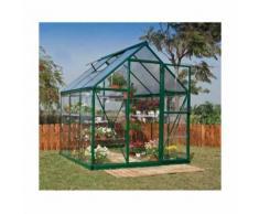 Serre de jardin en polycarbonate Hybrid 3,44 m², Couleur Argent, Ancrage au sol Non - longueur :
