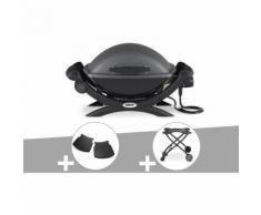 Barbecue électrique Weber Q 1400 + Plan travail + Chariot