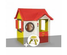 Cabane enfant My House - Smoby + Tabouret