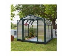 Serre de jardin en polycarbonate Rion Hobby Gardener 7,07 m², Ancrage au sol Non - longueur : 2m66