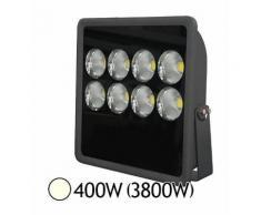 Projecteur LED COB 400W (3800W) IP65 Gris Anthracite Blanc jour 4000°K