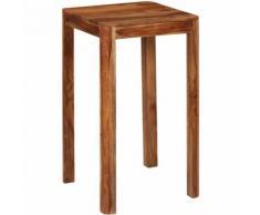 Table de bar Bois de Sesham massif 60 x 60 x 107 cm