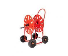 Dévidoirs 4 roues pour tuyau d'arrosage 19mm / 90M max.