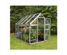Serre de jardin en polycarbonate Harmony 4,57 m², Couleur Vert, Ancrage au sol Non - longueur : 2m47