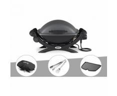 Barbecue électrique Weber Q 1400 + Housse + Kit Ustensile + Plancha