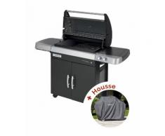 Pack Barbecue gaz Campingaz 3 Series RBS LD Vario - grille Culinary et plancha fonte + housse