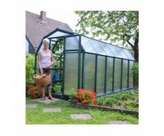Serre de jardin en polycarbonate Rion Eco Grow 7,90 m², Ancrage au sol Oui - longueur : 3m87