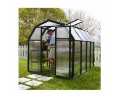 Serre de jardin en polycarbonate Rion Eco Grow 5,36 m², Ancrage au sol Oui - longueur : 2m63