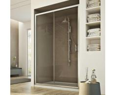 Porte Douche 140CM H185 transparent modèle Replay 1 Portillon