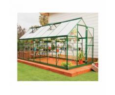 Serre de jardin en polycarbonate Hybrid 7,88 m², Couleur Argent, Ancrage au sol Oui - longueur :