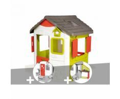 Cabane enfant Neo Jura Lodge - Smoby + Porte maison + Cuisine d'été