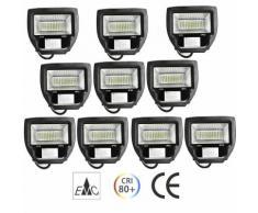 Projecteur Spot LED 30W IP65 Blanc Froid 6000-6500K Éclairage Extérieur et Intérieur - Lot de 10