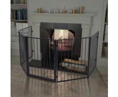Clôture de cheminée pour animaux de compagnie Acier Noir