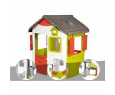 Cabane enfant Neo Jura Lodge - Smoby + Récupérateur d'eau + Espace jardin + Cuisine d'été